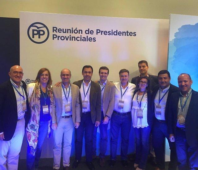 Encuentro de presidentes provinciales del PP en Soria.