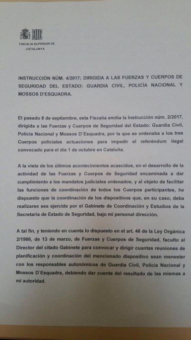 Fiscalia faculta al comandament d'Interior per convocar als cossos policials quan consideri (Europa Press)