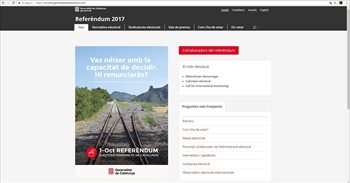 La jueza ordena desactivar tres webs sobre el referéndum