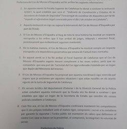 1-O.- La Prefectura de Mossos respecta la justícia però demana que es respecti el Govern (CEDIDA)