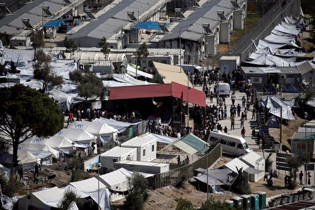 Campo de refugidos de Moria, en Lesbos
