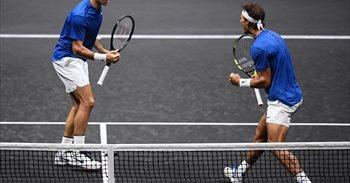 Nadal y Federer forman un equipo victorioso en la Rod Laver Cup