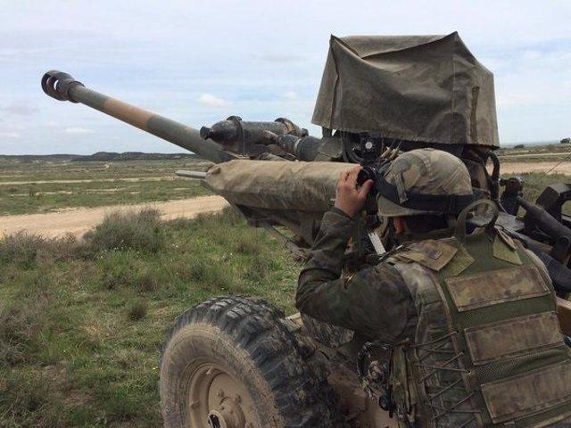 Prácticas de tiro en el campo de maniobras de San Gregorio