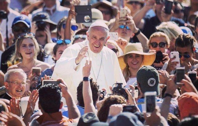 El Papa Francisco en una foto de su cuenta de Instagram.