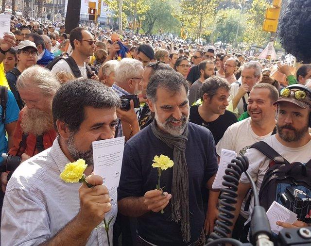 Jordi Sànchez (ANC) Jordi Cuixart (Òmnium Cultural)