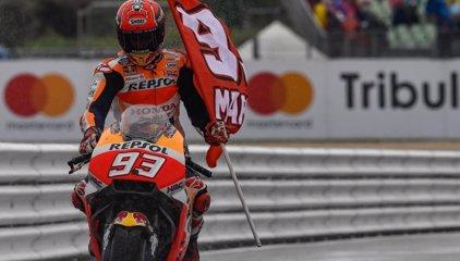 Marc Márquez lidera el triplete español en MotoGP