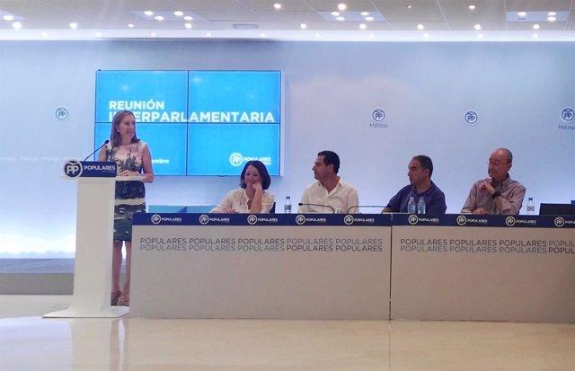 Ana Pastor en interparlamentaria PP Málaga