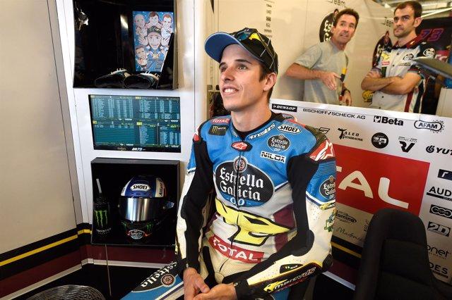 Alex Márquez en el box