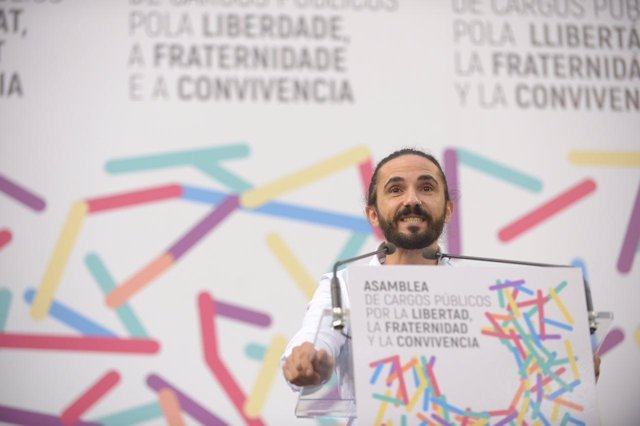 Baltasar Picornell en la Asamblea de cargos públicos de Podemos
