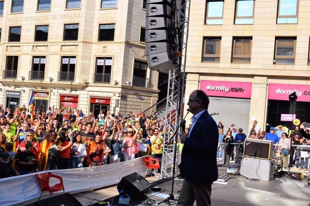 El conseller J.Turull en un acto en Lleida