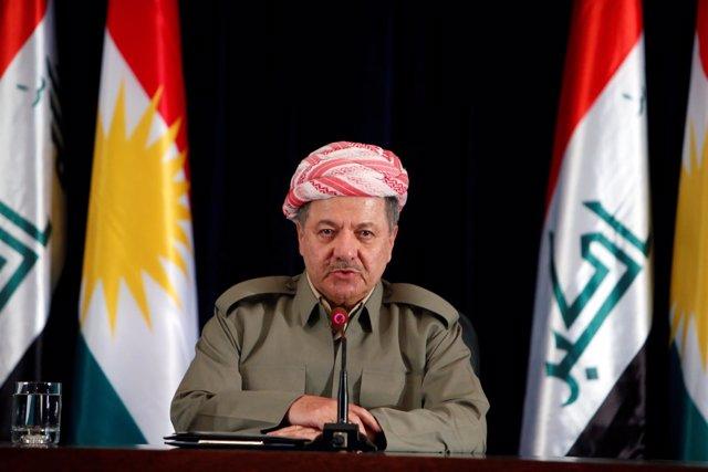 El presidente de la región autónoma iraquí del Kurdistán, Masud Barzani