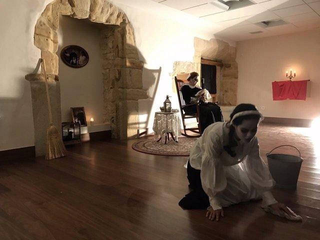 Puesta en escena de 'La noche del cuervo'