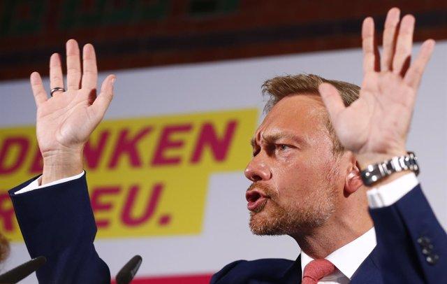 El líder del Partido Democrático Libre (FDP), Christian Lindner
