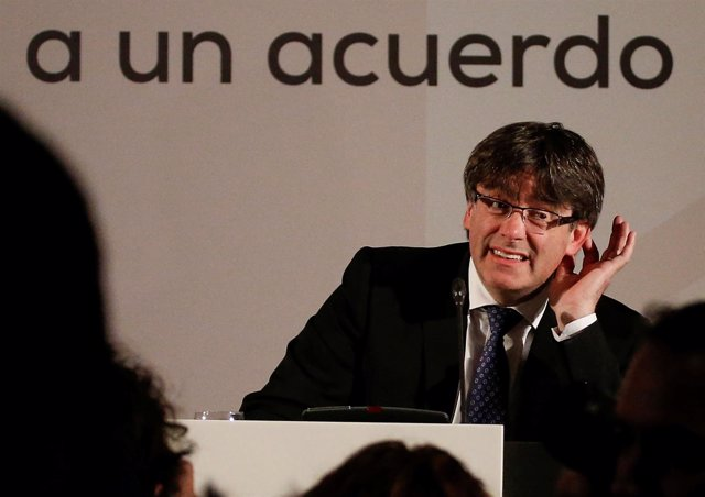 Carles Puigdemont en un acto