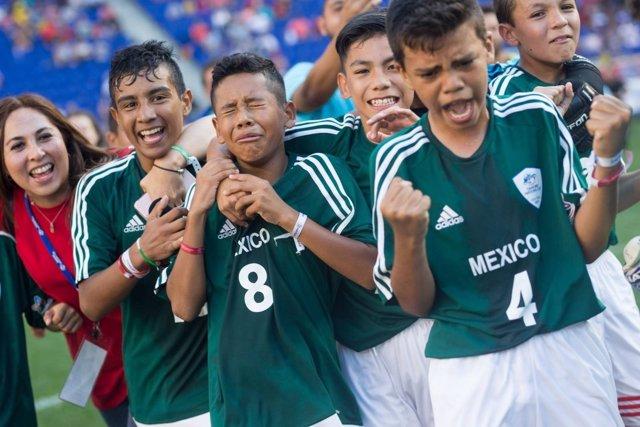 Los alevines de México en la Danone Nations Cup