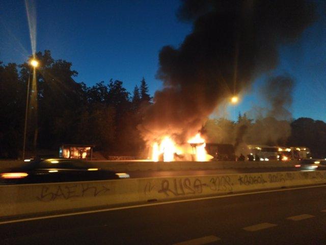 Incendio del autobús