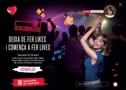 La Generalitat llança la cinquena edició d'Escena 25 per apropar la cultura als joves (GENERALITAT DE CATALUNYA)
