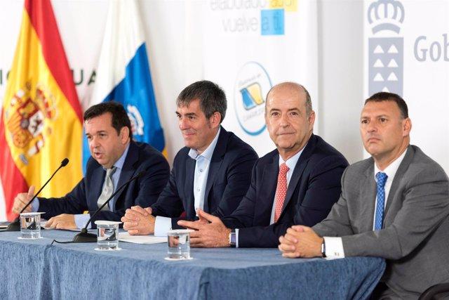 Gonzalo Medina, Fernando Clavijo, Pedro Ortega y Andrés Calvo