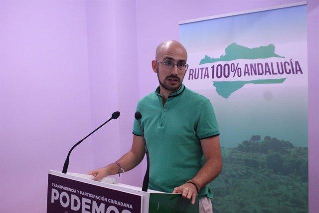 Rueda de prensa de Pérez Ganfornina (Podemos Andalucía)