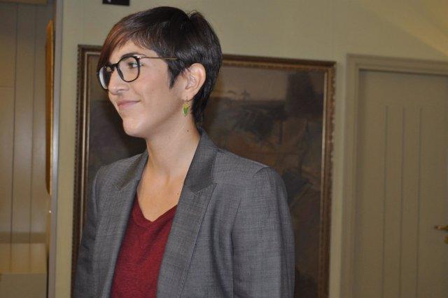 La presidenta de las Cortes de Aragón, Violeta Barba