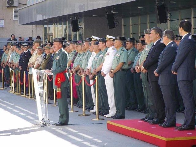 El teniente general Pablo Martín Alonso en su acto de despedida como DAO
