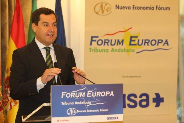 Juanma Moreno desayuno forum PP andaluz andalucia