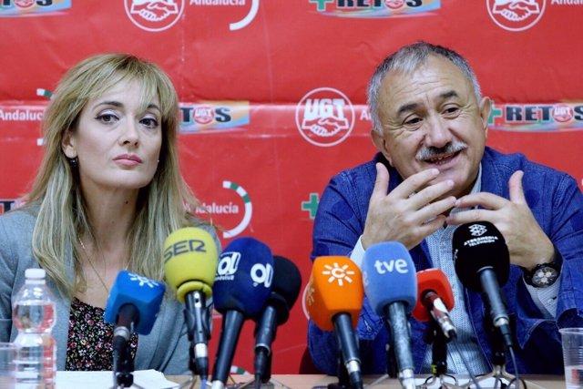 Carmen Castilla y Pepe Álvarez, de UGT