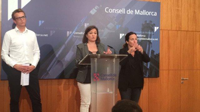 La consellera Mercedes Garrido en rueda de prensa