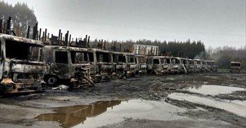 Prisión preventiva para ocho mapuches por la presunta quema de más de un centenar de camiones en Chile