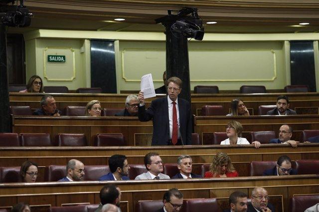Ferrán Bel, diputado del PDECAT y alcalde de Tortosa, en el Congreso