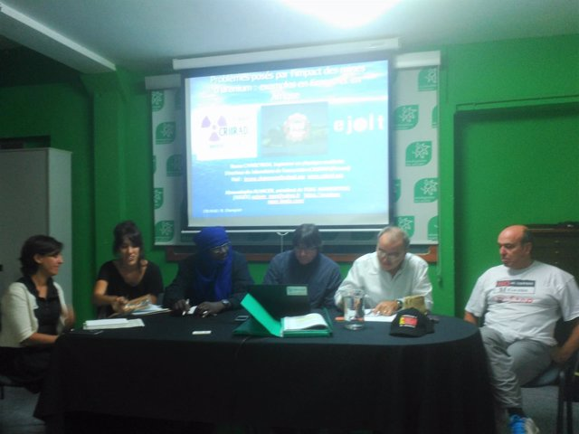 Rueda de prensa conjunta contra la mina de uranio en Retortillo (Salamanca)