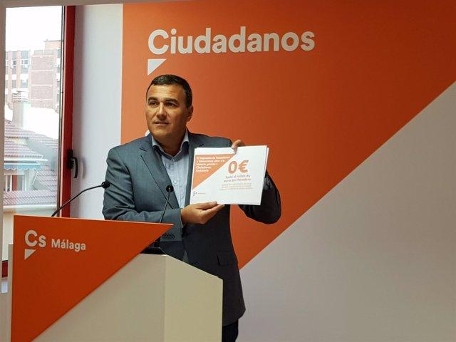 Carlos Hernández White parlamentario de Ciudadanos Cs por Málaga