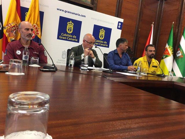 Juan  Carlos Santana, Antonio Morales, Miguel Á. Rodríguez y Federico Grillo