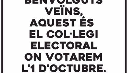 Òmnium y ANC piden imprimir carteles con el punto electoral para informar a vecinos