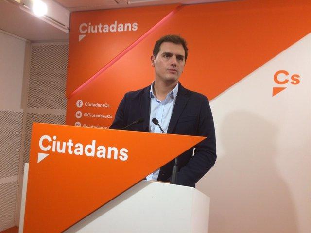 El líder de Cs, Albert Rivera