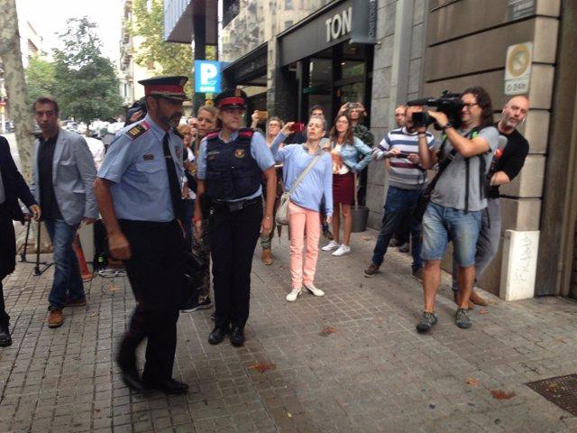 El mayor de Mossos J.L.Trapero llega a Fiscalía Superior de Catalunya