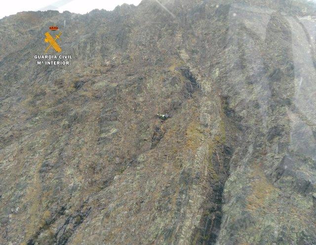 Rescate de un montañero, cerca del Pico de los Infiernos