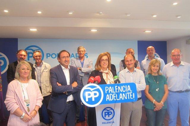 Alcaldes del PP de Palencia.