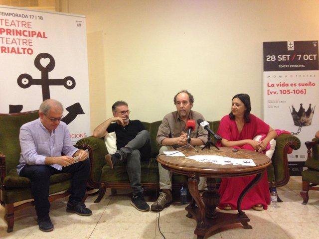 Presentació de l'obra 'La vida és somni' en el Principal de València