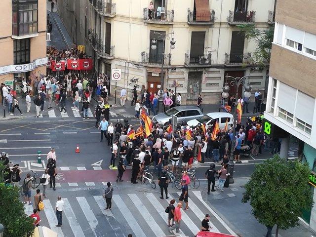 Concentración en València