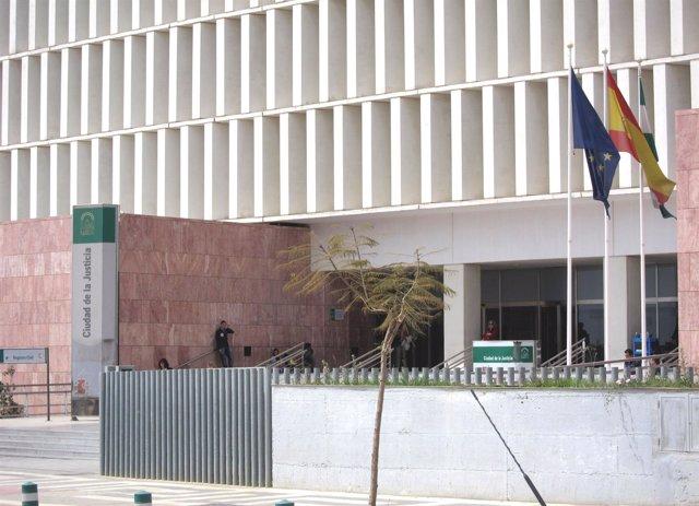 Fachada de la Ciudad de la Justicia de Málaga