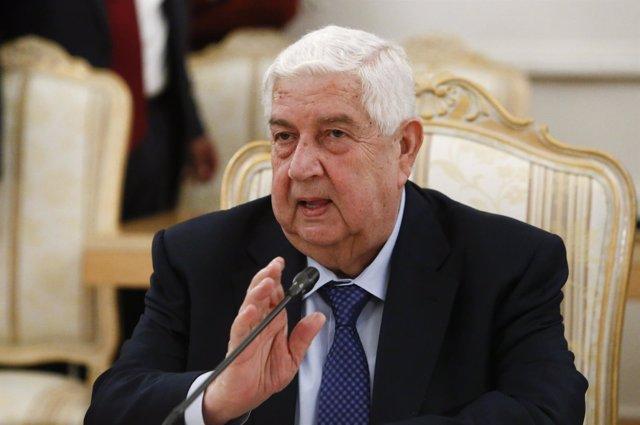 Ministro de Exteriores de Siria, Walid al Muallem
