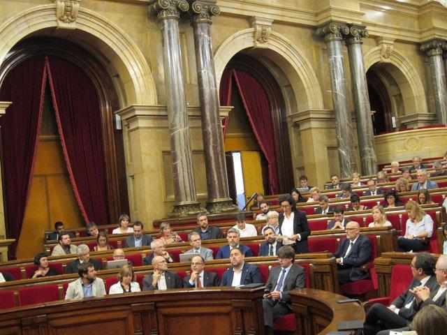 Marta Rovira (JxSí) en el pleno del Parlament