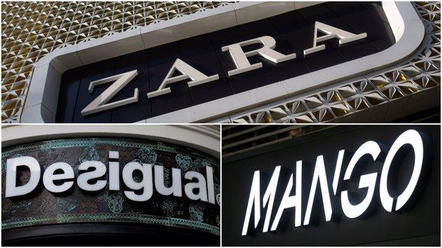 Montaje de Zara, Mango y Desigual