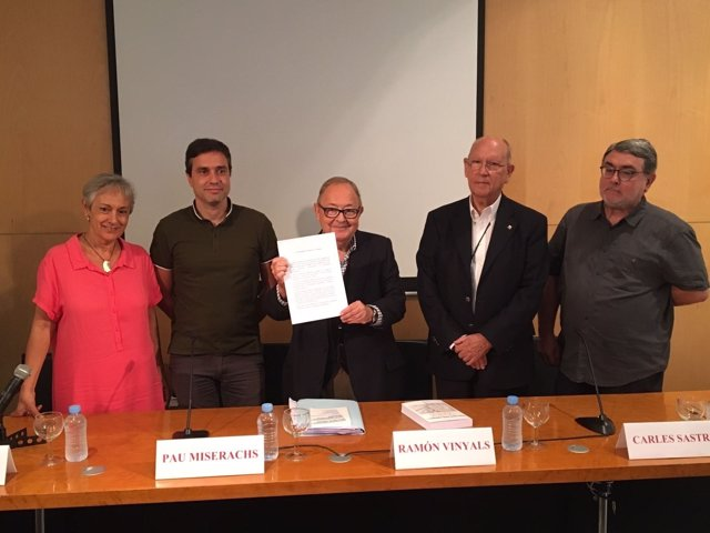 M.Sánchez (Súmate), D.Folch (SI), P.Miserachs (MES), D.Viñals y C.Sastre (CSC).