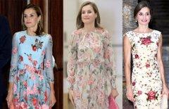 La tendencia de los vestidos florales de la Reina Letizia