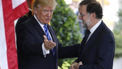 """Trump: """"Supongo que me preguntarán mucho sobre España, me encanta España pero también tenemos otras cosas en la mente"""""""