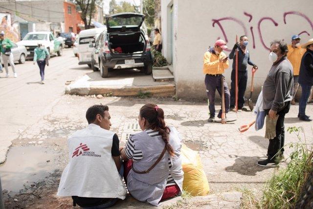 MSF da apoyo psicosocial a los afectados por el terremoto en San Gregorio