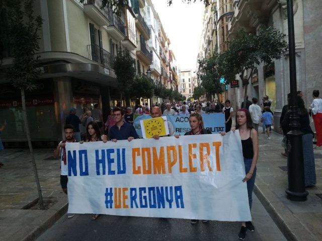Manifestación acogida de refugiados