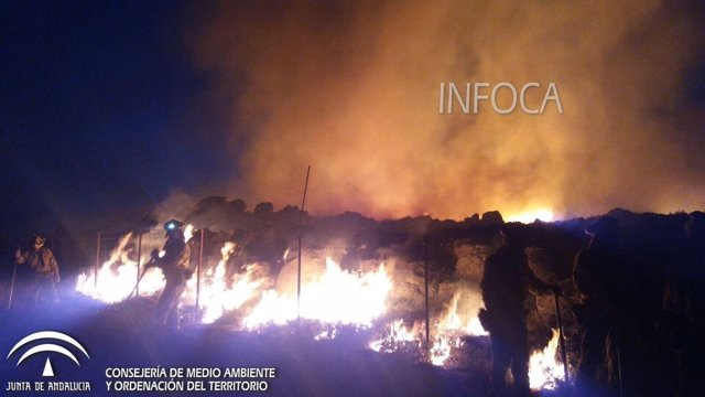 Incendio en Ronda